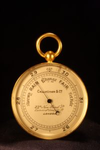 Image of Callaghan Gilt Brass Pocket Barometer No 8422