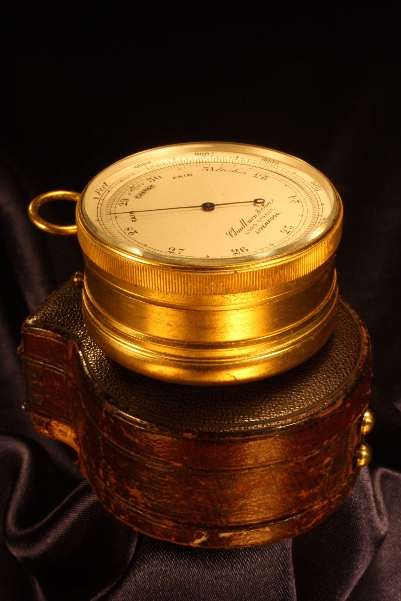 Image of Pocket Barometer Compendium by Chadburn & Son c1870