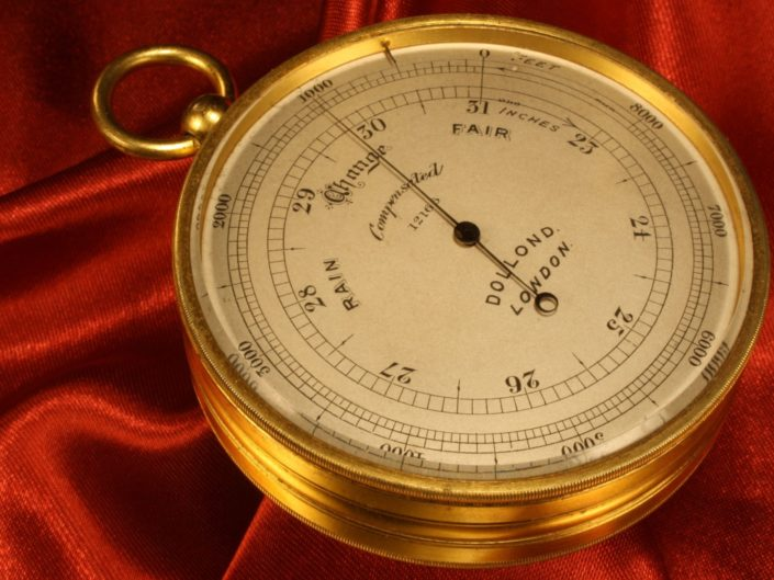 TRAVELLING POCKET BAROMETER BY DOLLOND No 12166 c1910