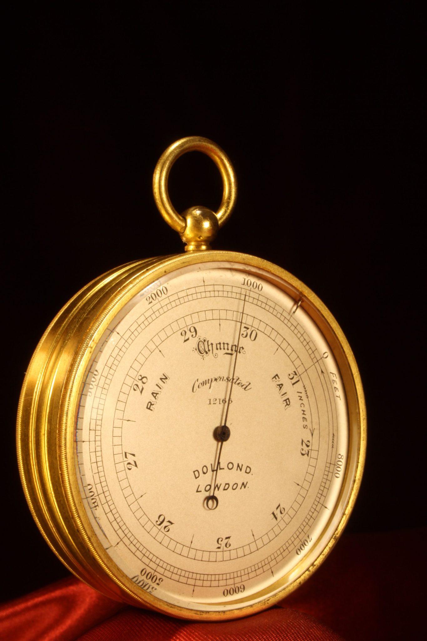 Image of Dollond Pocket Barometer No 12166 c1910