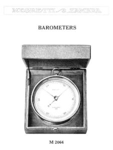Image of Aneroid Barometer from Negretti & Zambra Catalogue 1930