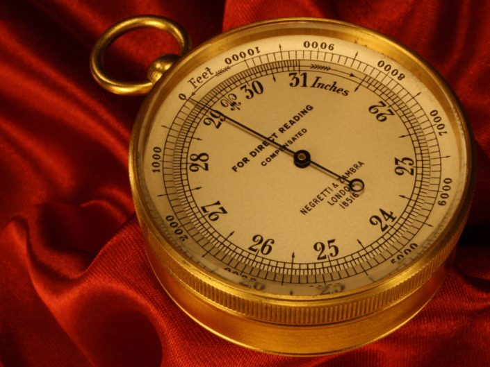 POCKET BAROMETER ALTIMETER BY NEGRETTI & ZAMBRA No 18516 c1910