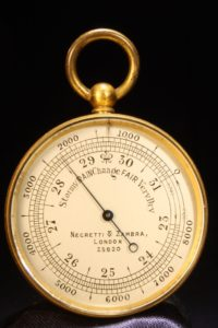 Image of Negretti & Zambra Pocket Barometer No 25820 c1915