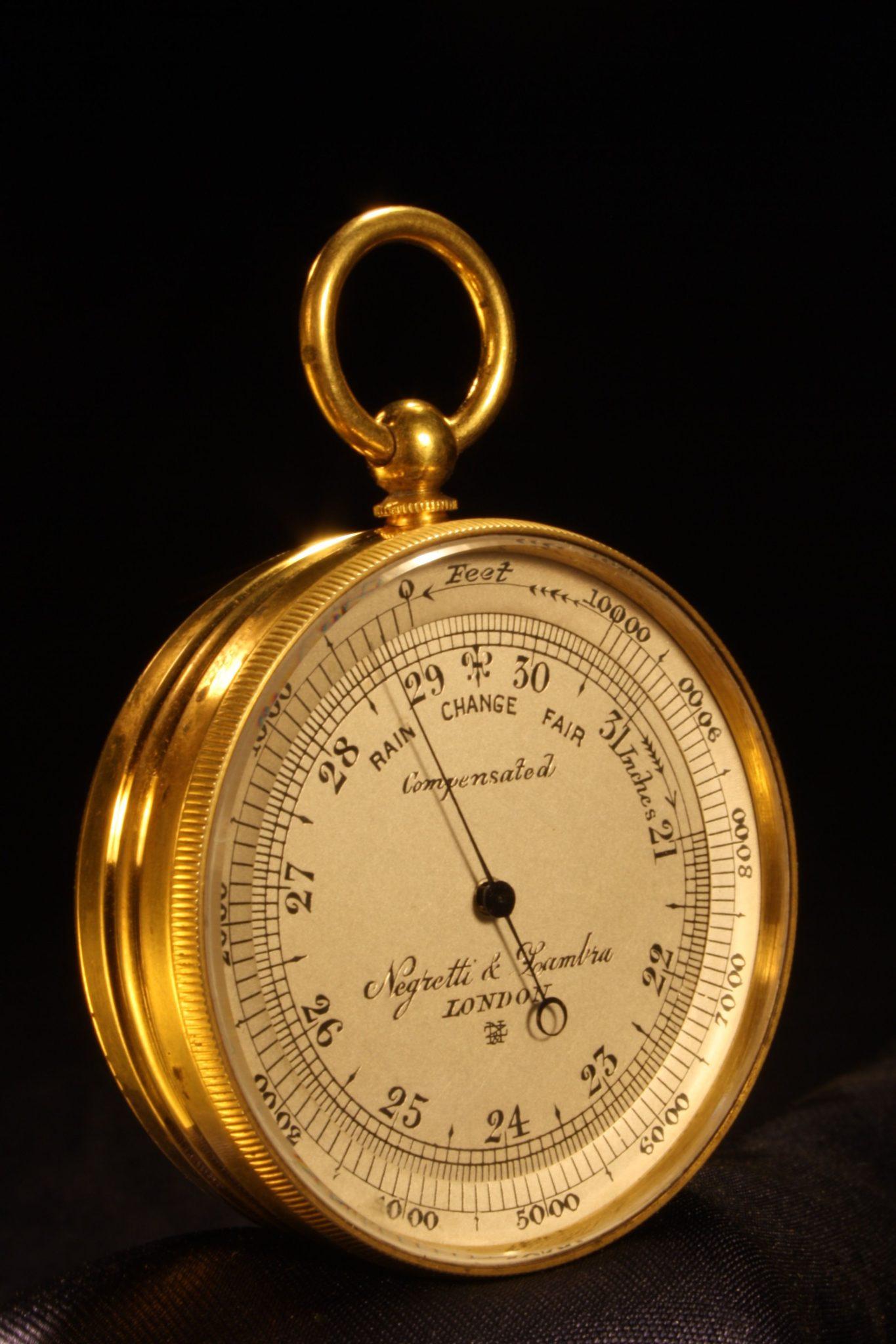 Image of Negretti & Zambra Pocket Barometer Compendium c1909