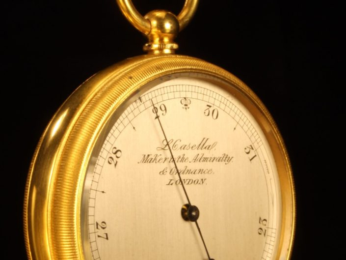 GILT BRASS POCKET BAROMETER BY CASELLA No 2747 c1865