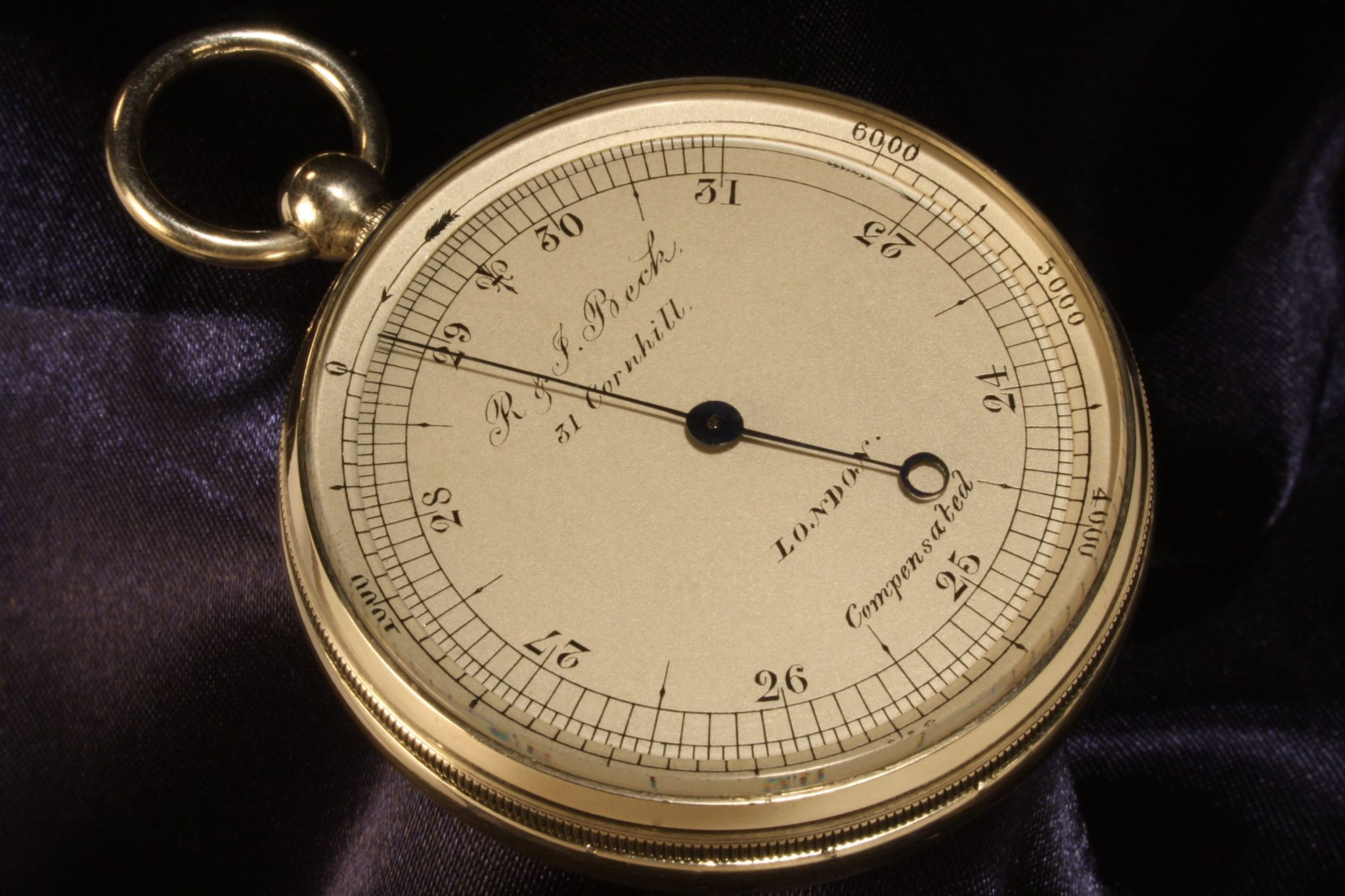 Image of German Silver Pocket Barometer by Negretti & Zambra Retailed by Beck c1867