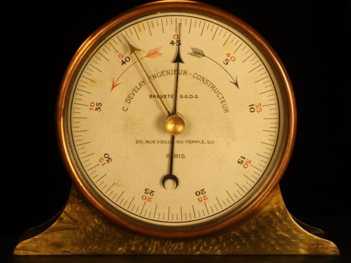 ANTIQUE FRENCH INCLINOMETER BY DEVELAY, MID TO LATER 19th CENTURY