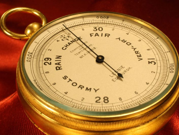 SHORT & MASON POCKET BAROMETER No K18228 RETAILED BY LENNIE c1930
