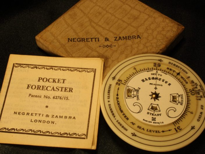 POCKET FORECASTER BY NEGRETTI & ZAMBRA c1930