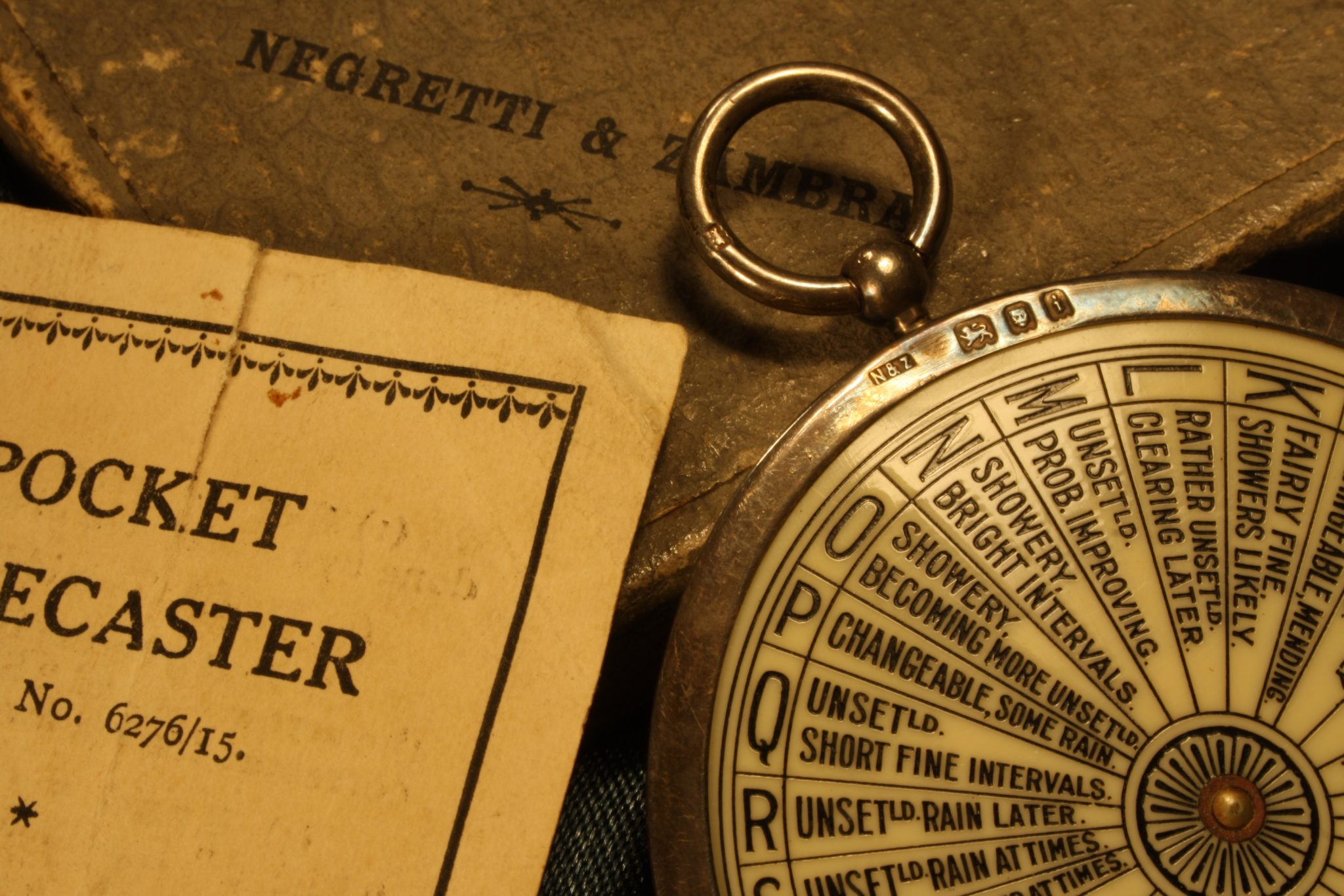 Image of Negretti & Zambra Silver Pocket Forecaster