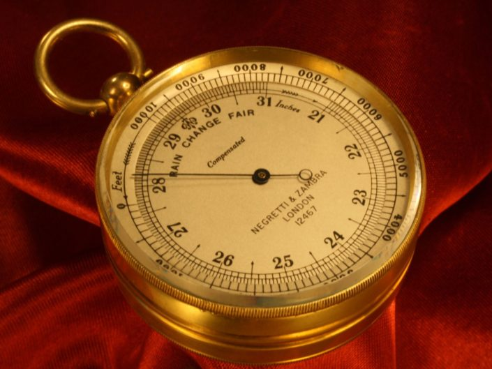 NEGRETTI & ZAMBRA POCKET BAROMETER COMPENDIUM No 12467 c1925 - Sold