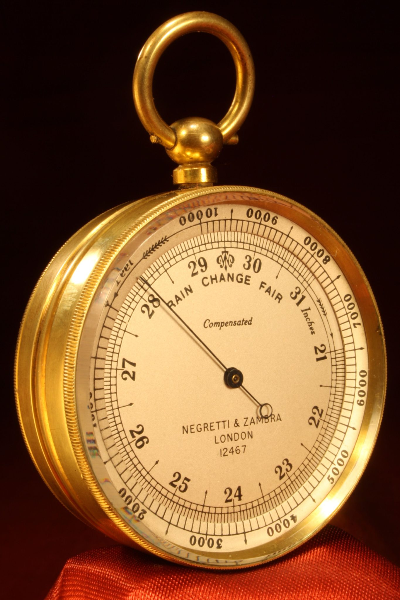 Image of Negretti & Zambra Pocket Barometer Compendium No 12467 c1890