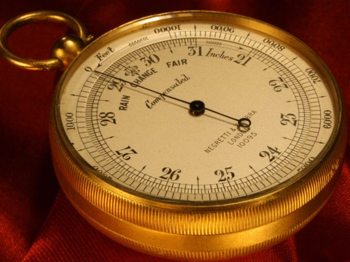 POCKET BAROMETER ALTIMETER BY NEGRETTI & ZAMBRA No 10095 c1923