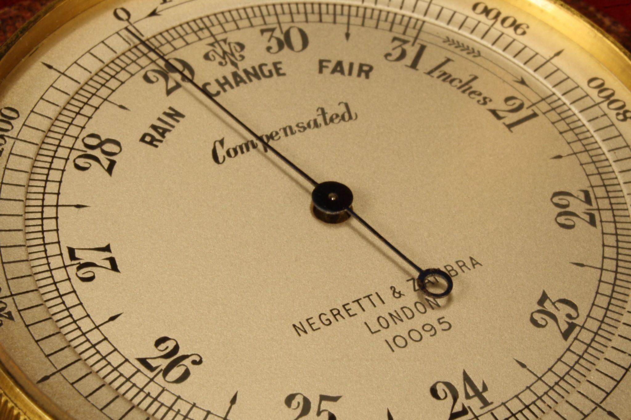 Image of Negretti & Zambra Pocket Barometer No 10095 c1923
