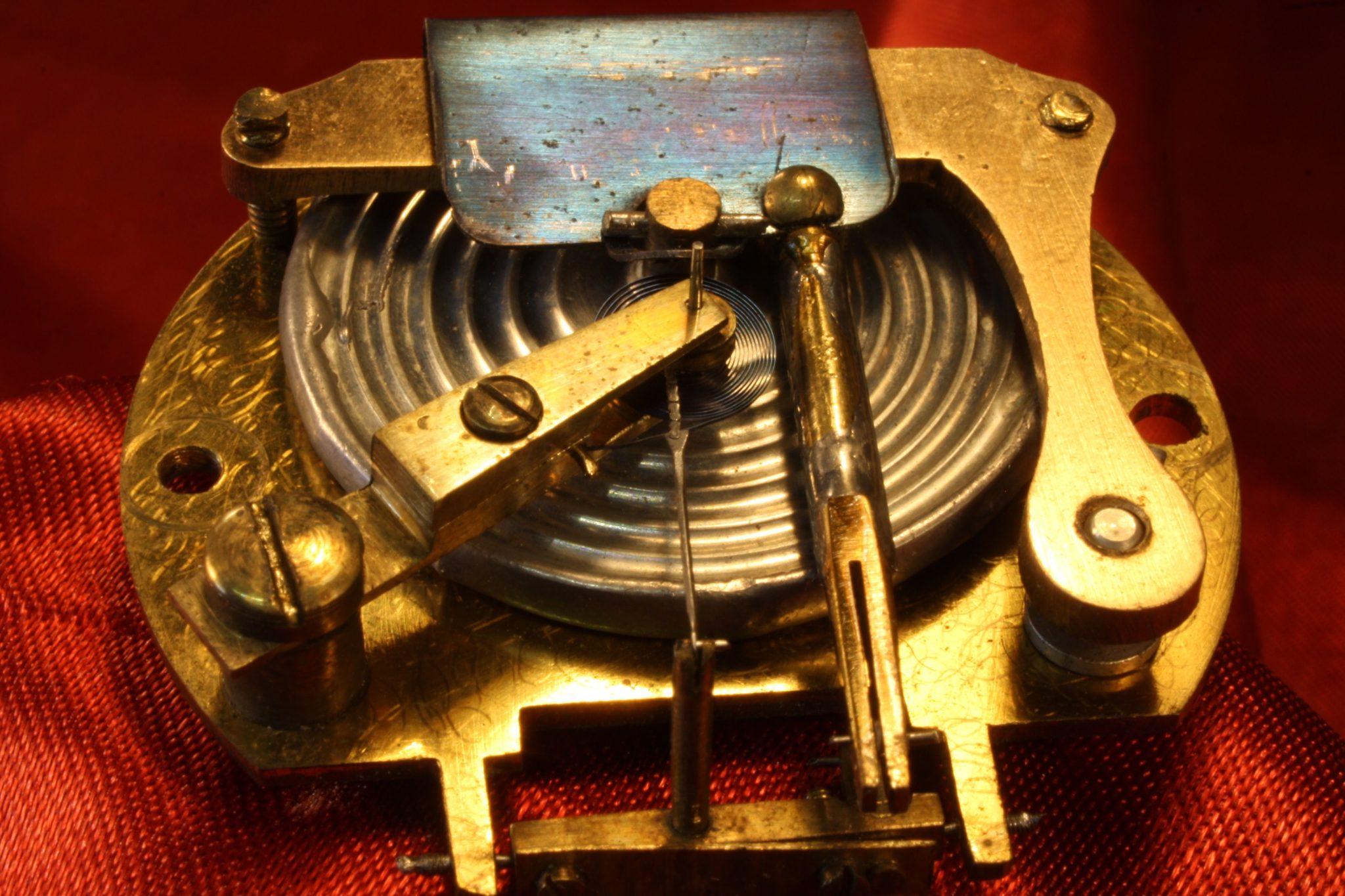 Image of Nickel Brass Pocket Barometer Compendium c1870