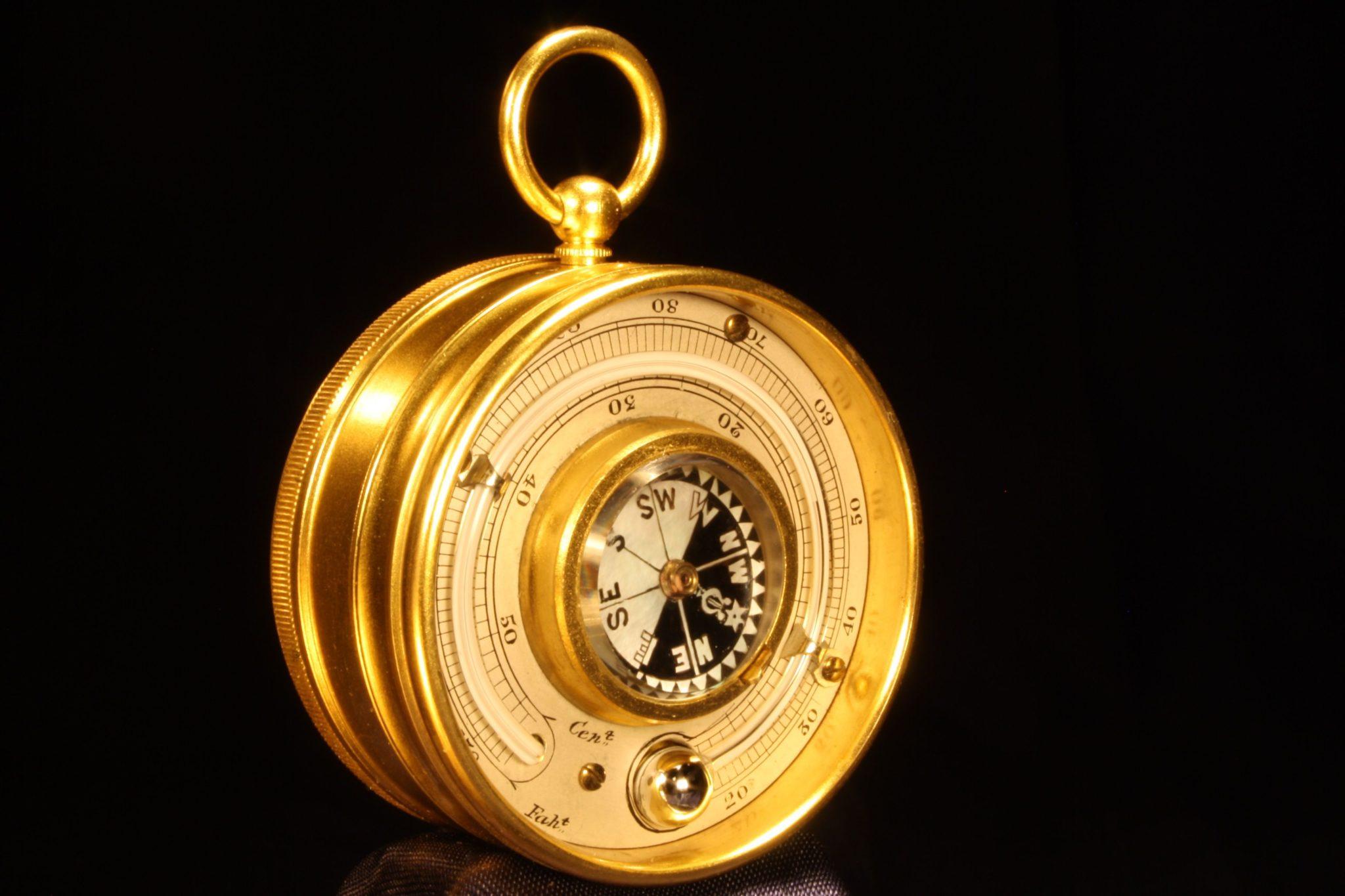Image of Negretti & Zambra Pocket Barometer Compendium c1895