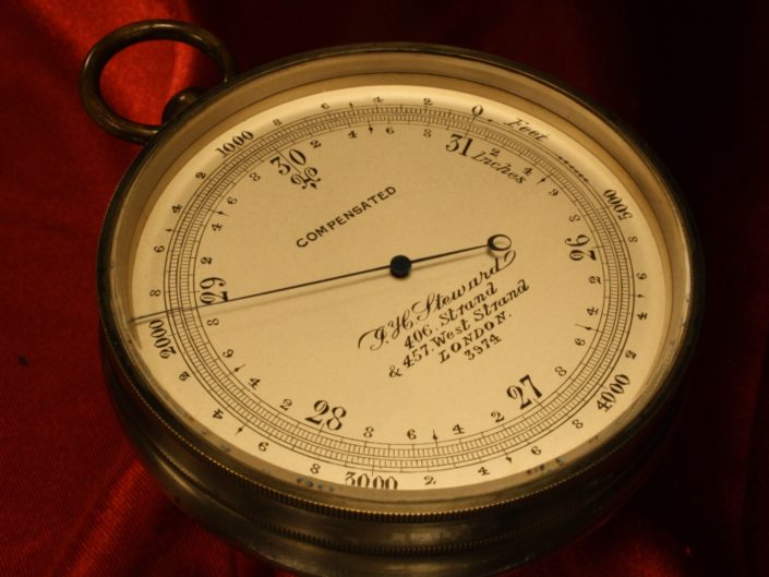 POCKET BAROMETER ALTIMETER BY STEWARD No 3974 c1870