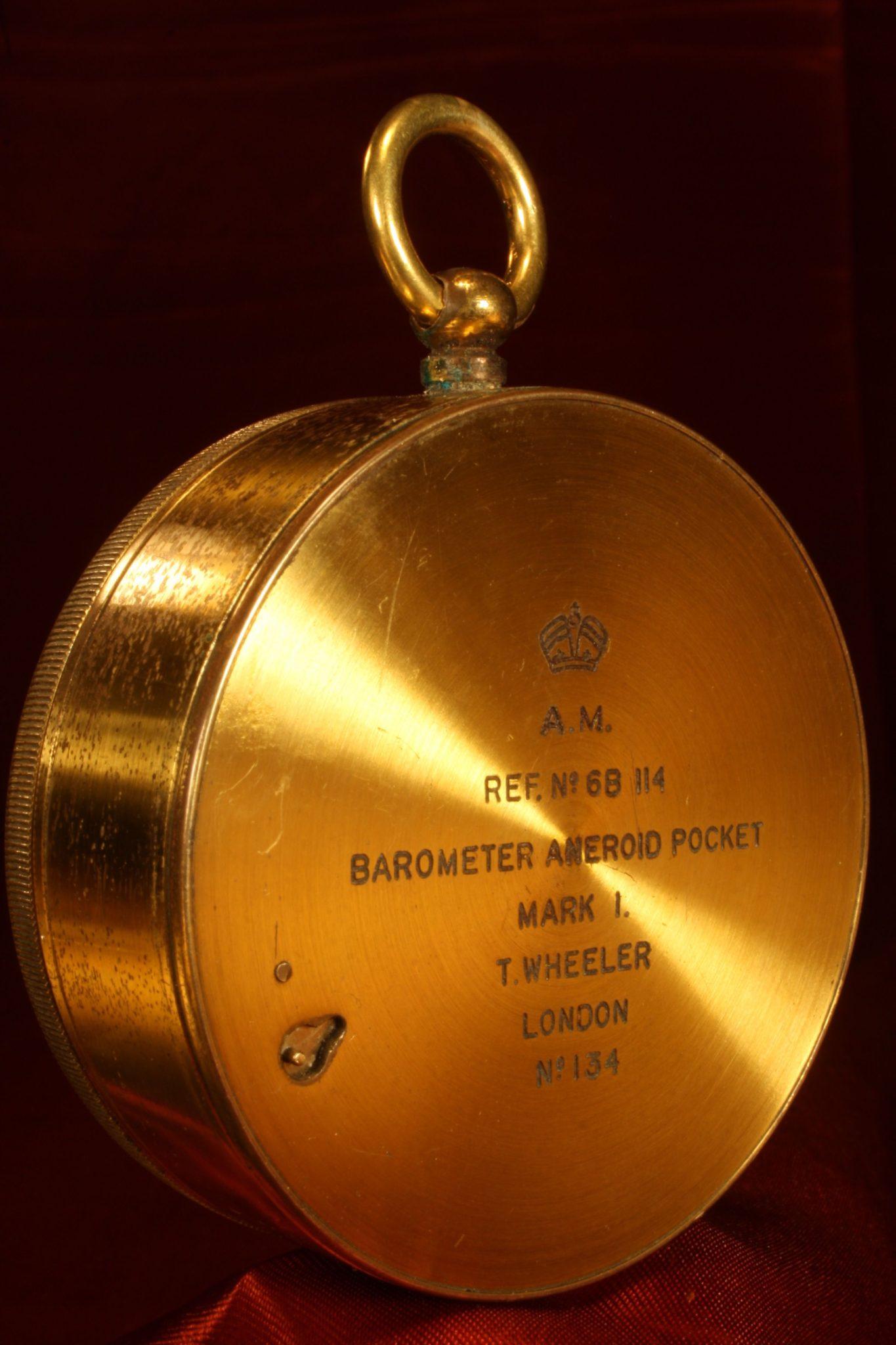 Image of Wheeler Pocket Barometer No 134 c1939