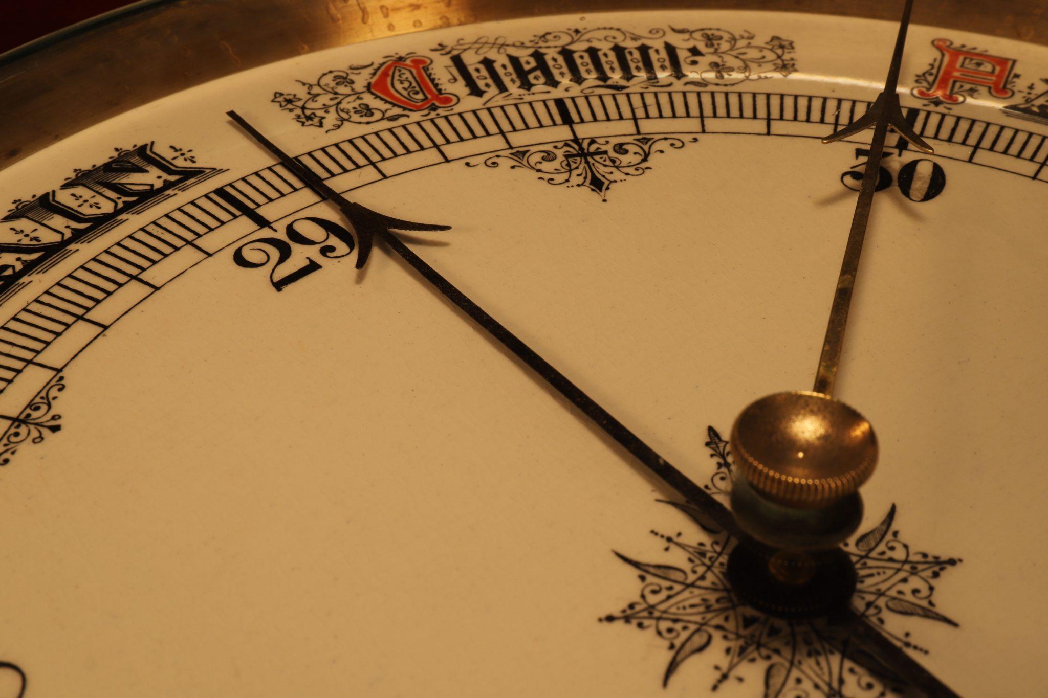 Image of Huge Victorian Aneroid Barometer c1890