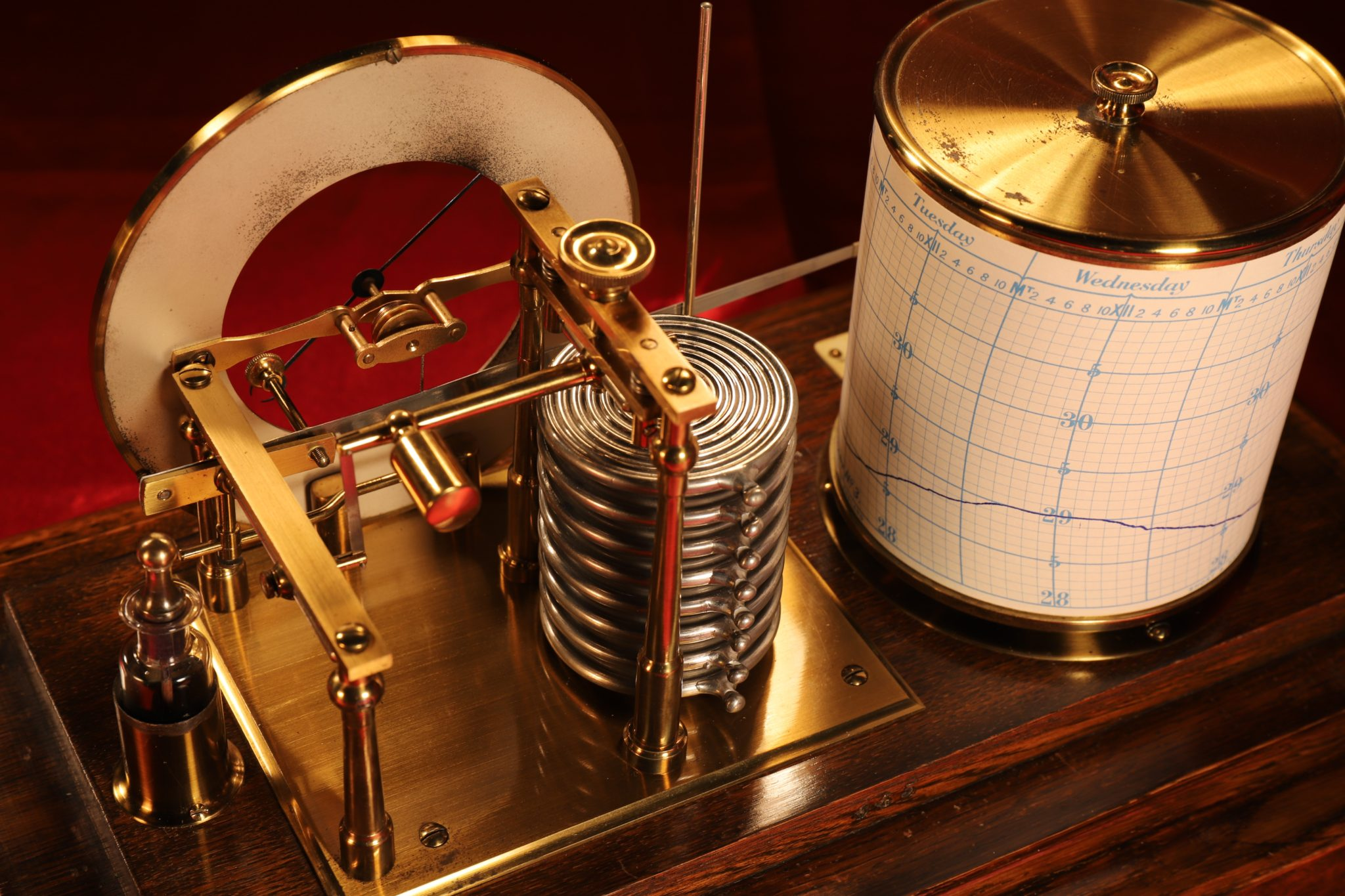 Image of Short & Mason Barograph & Barometer No 9582 Retailed by Thomas Skinner
