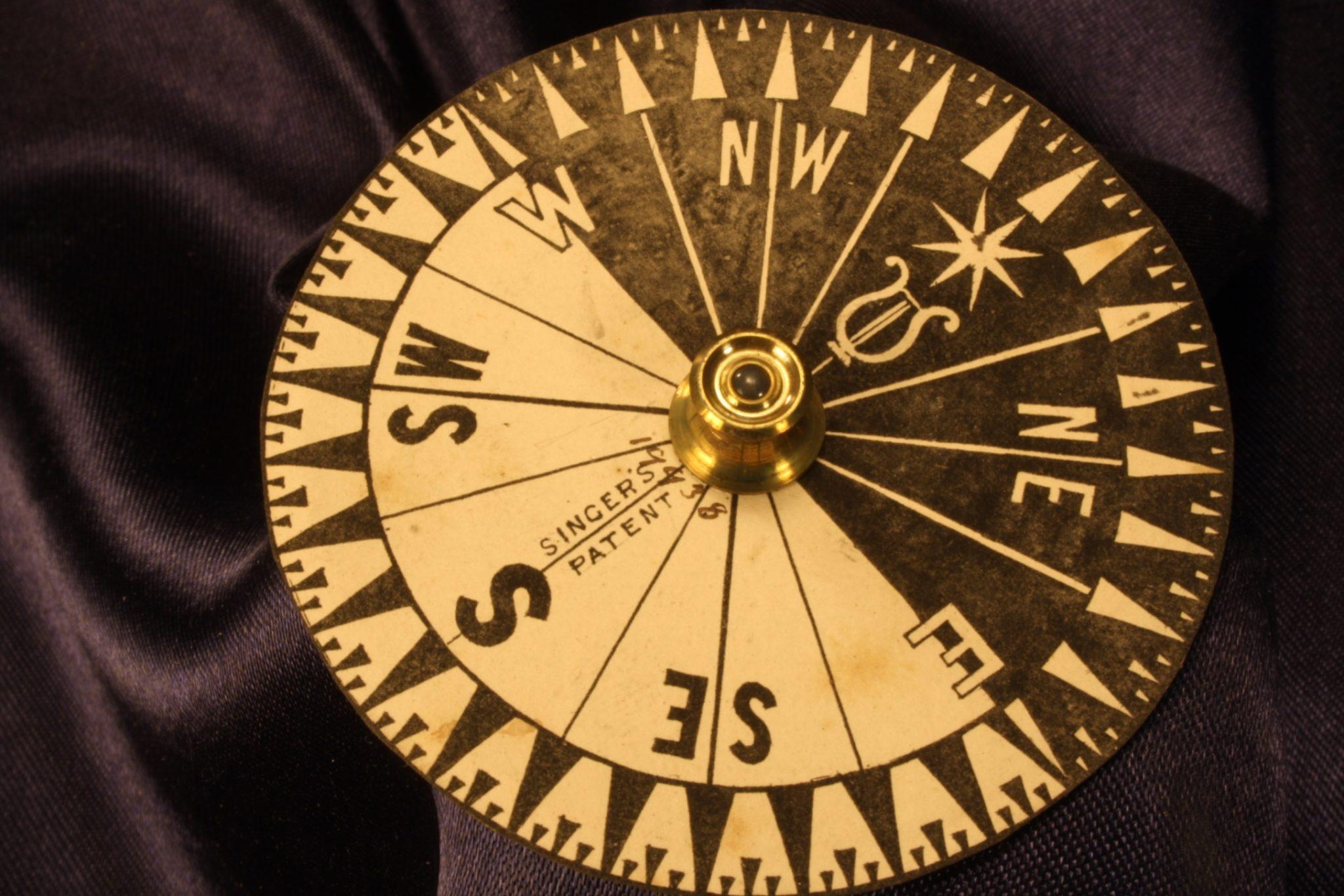 Image of Antique Desk Singer's Patent Compass No 19938 c1865