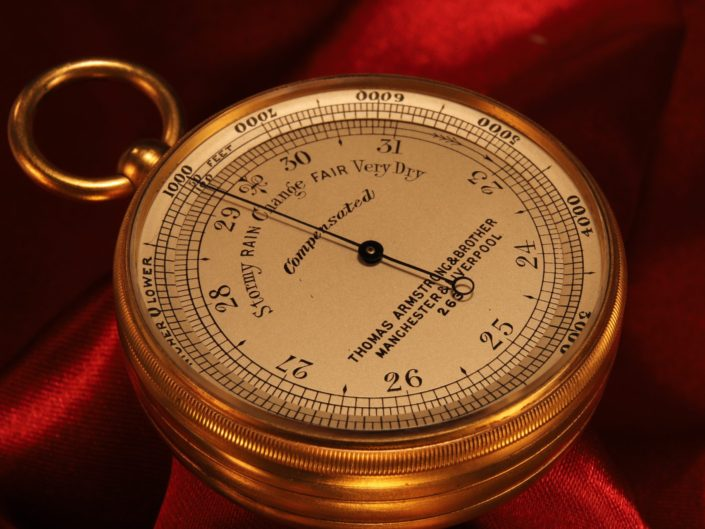 POCKET BAROMETER ALTIMETER BY ARMSTRONG No 263 c1875 - Sold