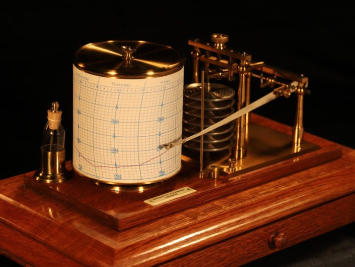 DRUM BAROGRAPH RECORDER BY NEGRETTI & ZAMBRA c1910