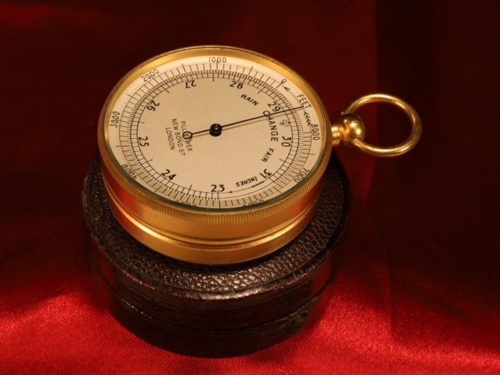 POCKET BAROMETER ALTIMETER BY PILLISCHER c1900