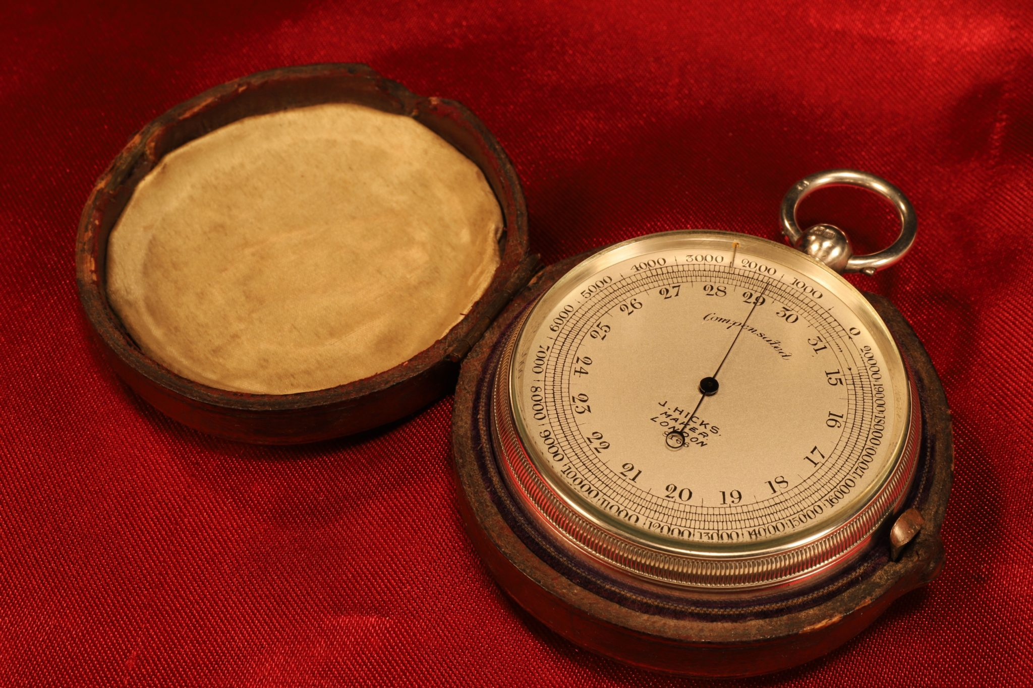 Image of Silver Hicks Pocket Barometer No 8166 c1905