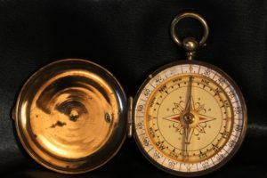 Image of Brass Pocket Compass Attributed to Henry Browne & Son c1887