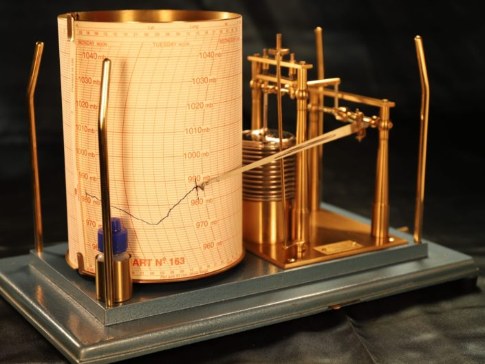 DRUM MICROBAROGRAPH BY CASELLA c1970 - Sold