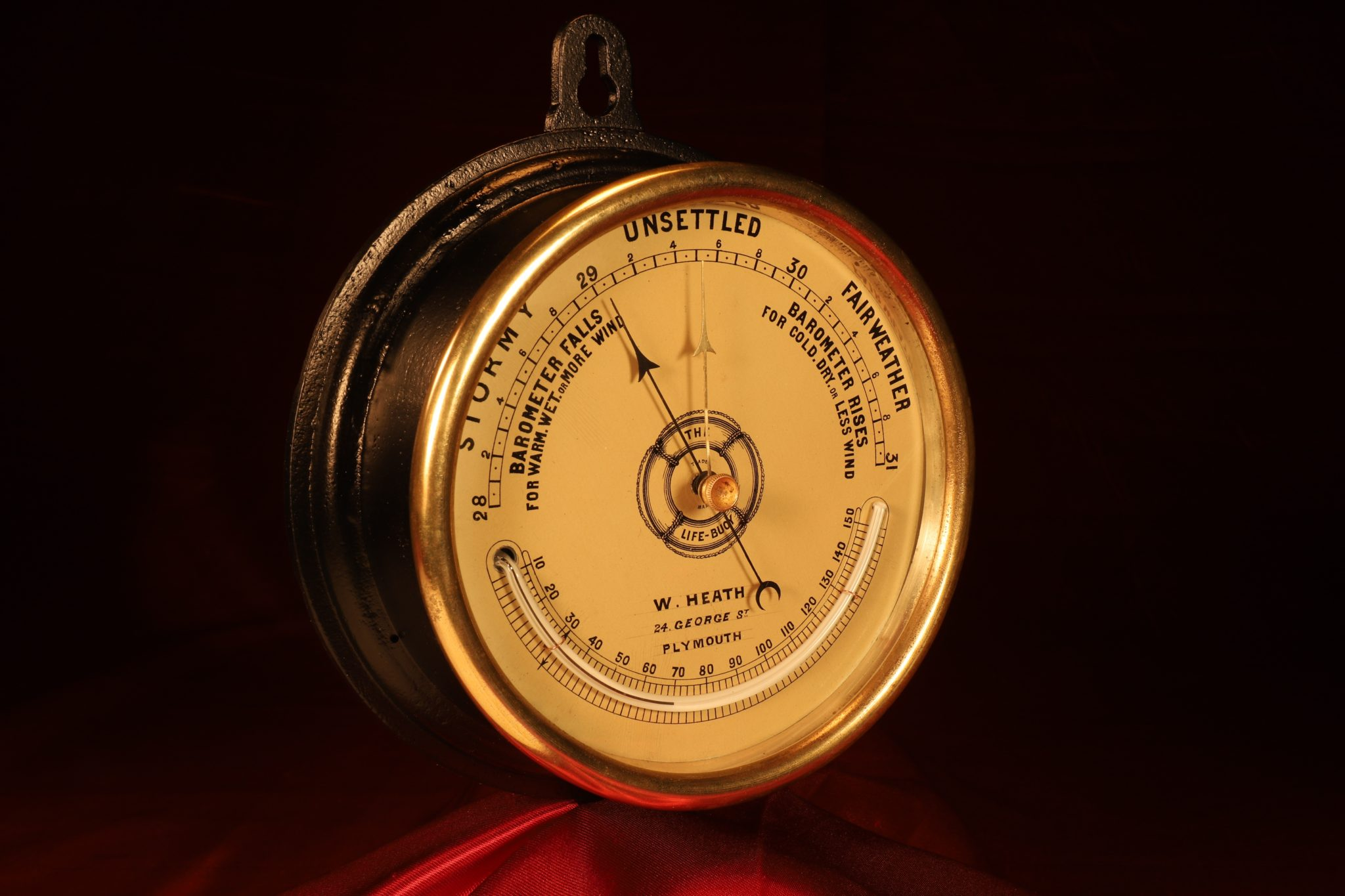 Image of The Life-Buoy Marine Barometer by Dollond Retailed by Heath