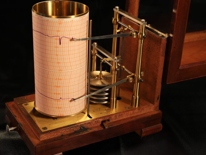 DRUM BAROTHERMOGRAPH BY RICHARD FRERES c1900 - Sold