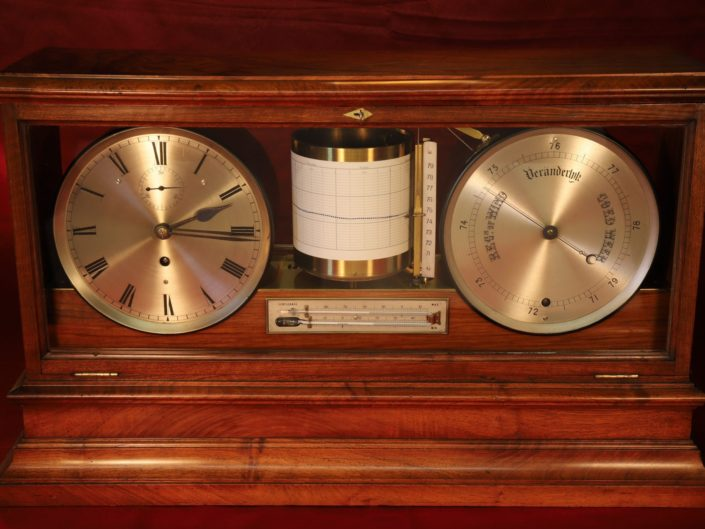 RARE WALNUT CASED WEATHER STATION c1890