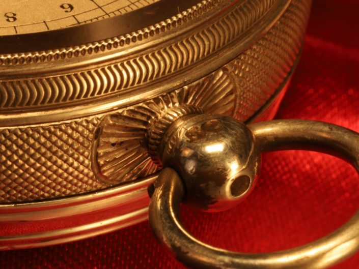 SILVER POCKET BAROMETER BY JOHN BROWNING, CASE BY RICHARD OLIVER, c1863