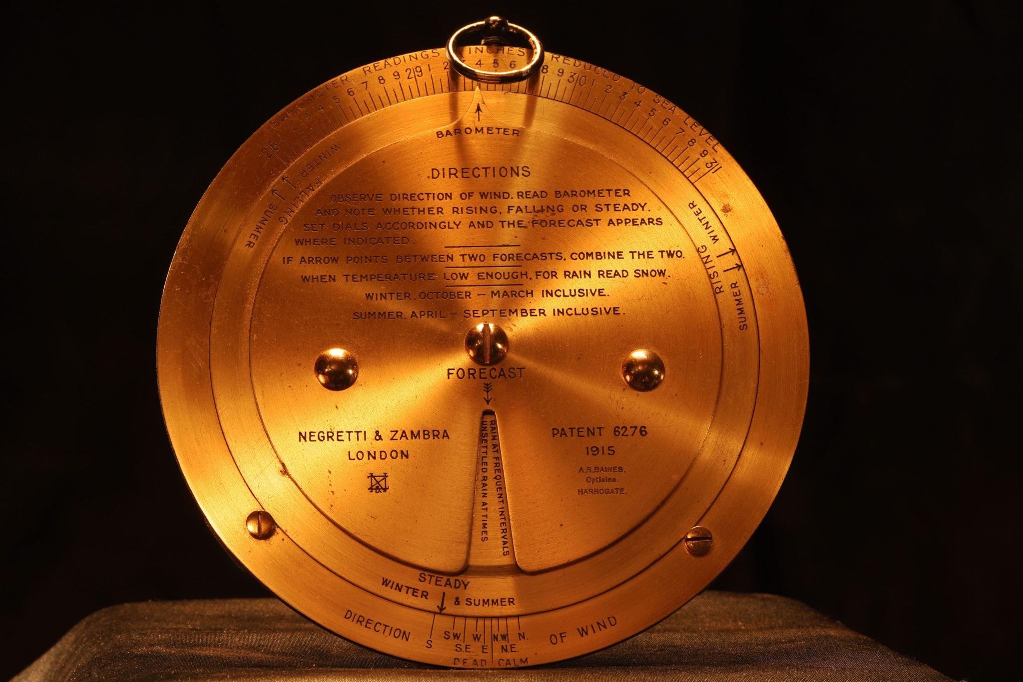 Image of Negretti & Zambra Forecasting Aneroid No 21054 c1925