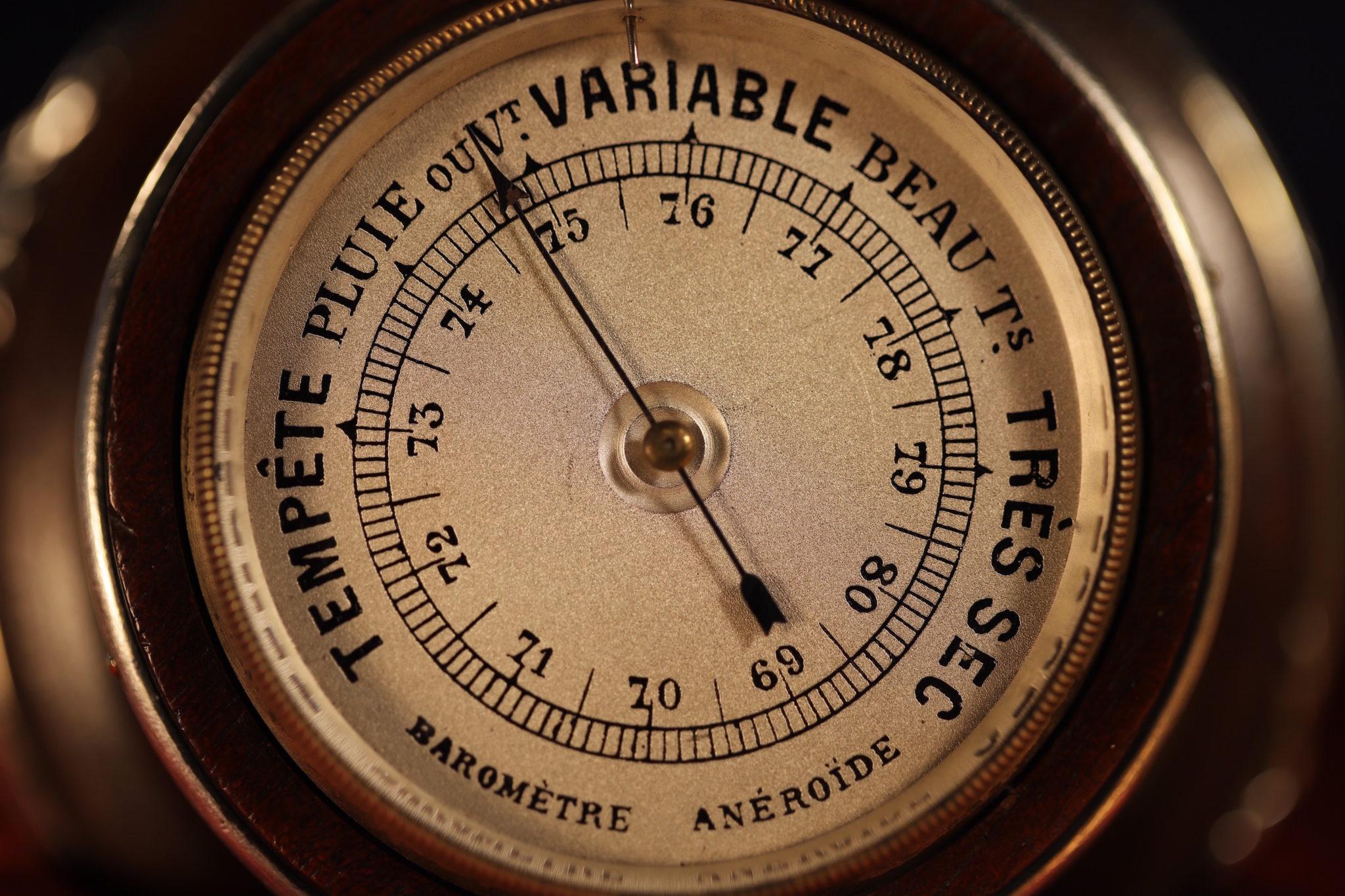 Image of Gustave Keller Desk Barometer c1900