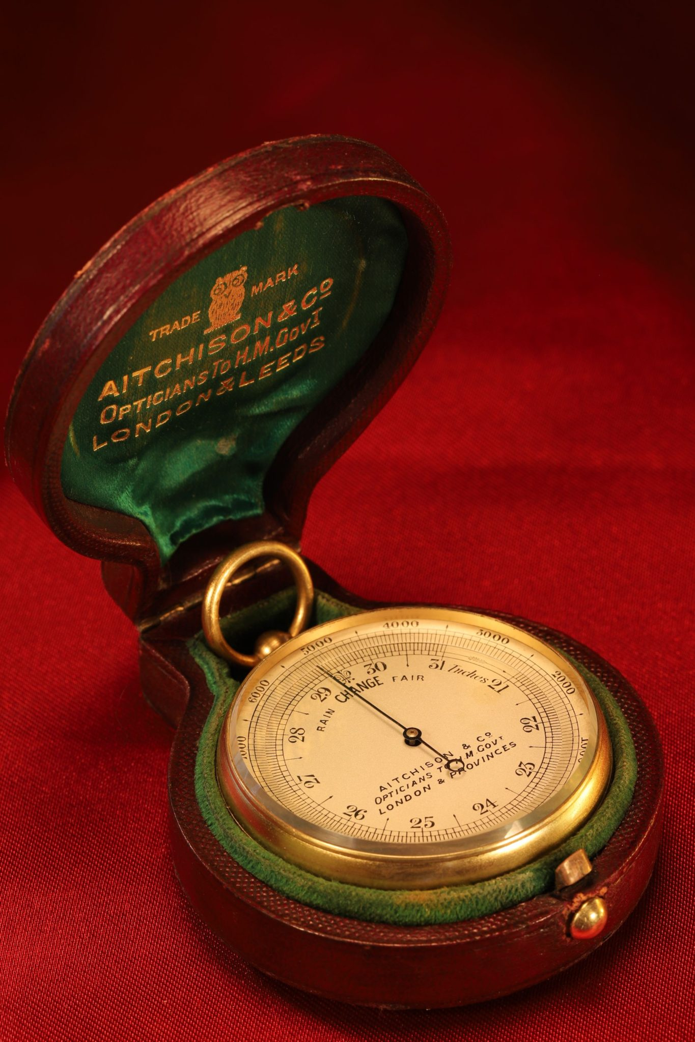 Image of Aitchison Pocket Barometer c1915