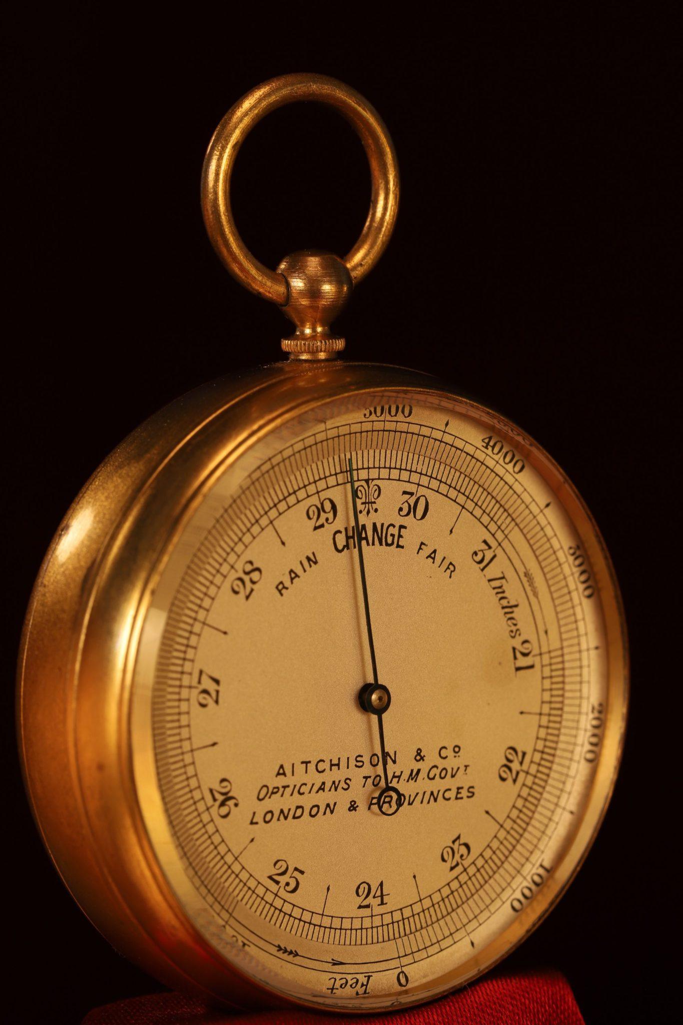 Image of Aitchison Pocket Barometer c1915