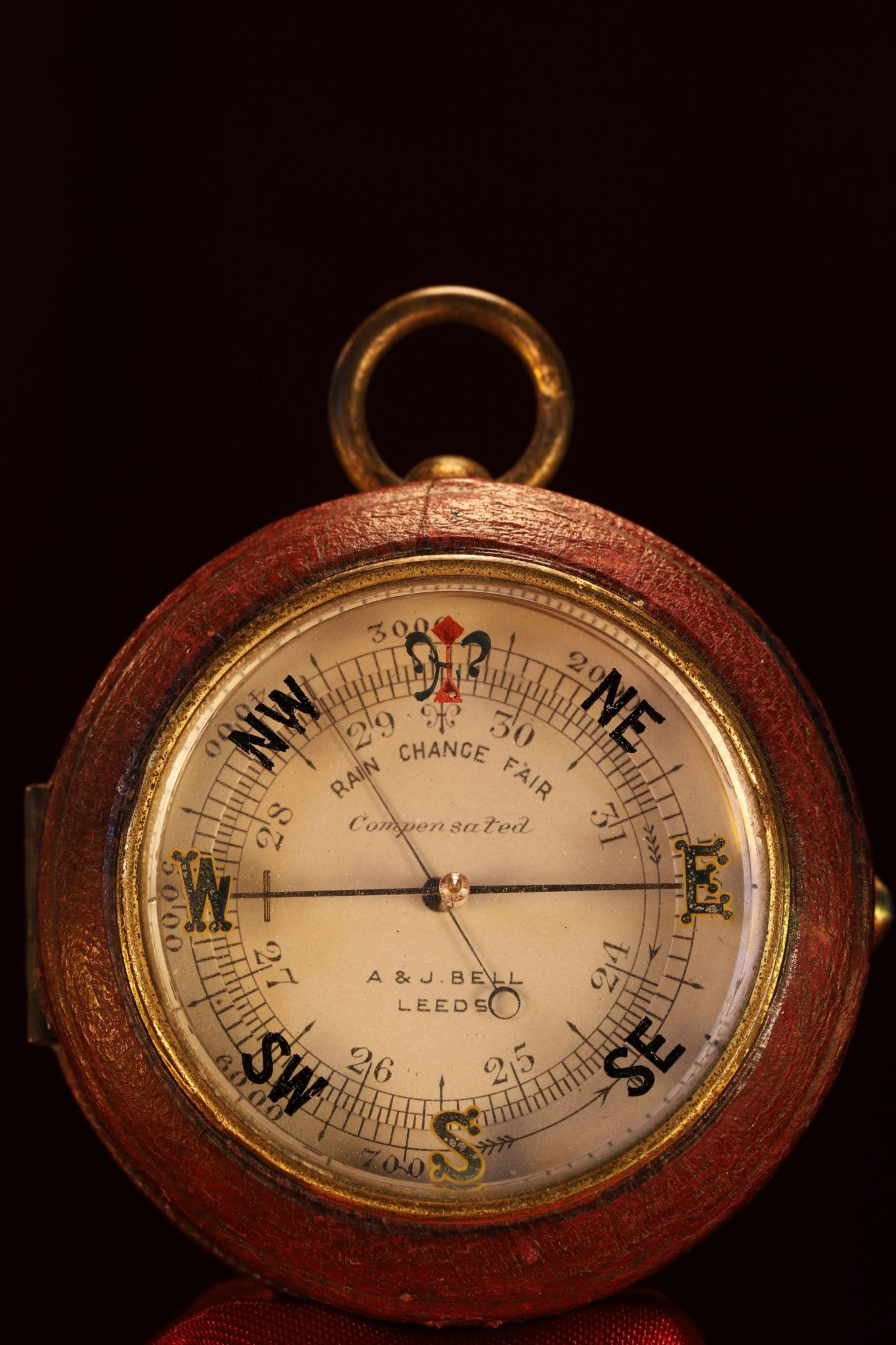 Image of Pocket Barometer and Compass Compendium by Negretti & Zambra for A&J Bell c1914