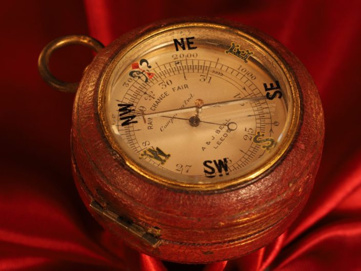 POCKET BAROMETER AND COMPASS COMPENDIUM BY NEGRETTI & ZAMBRA FOR BELL c1914 - Sold