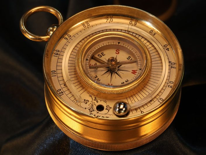 POCKET BAROMETER COMPASS THERMOMETER COMPENDIUM BY LANCASTER & SON c1880