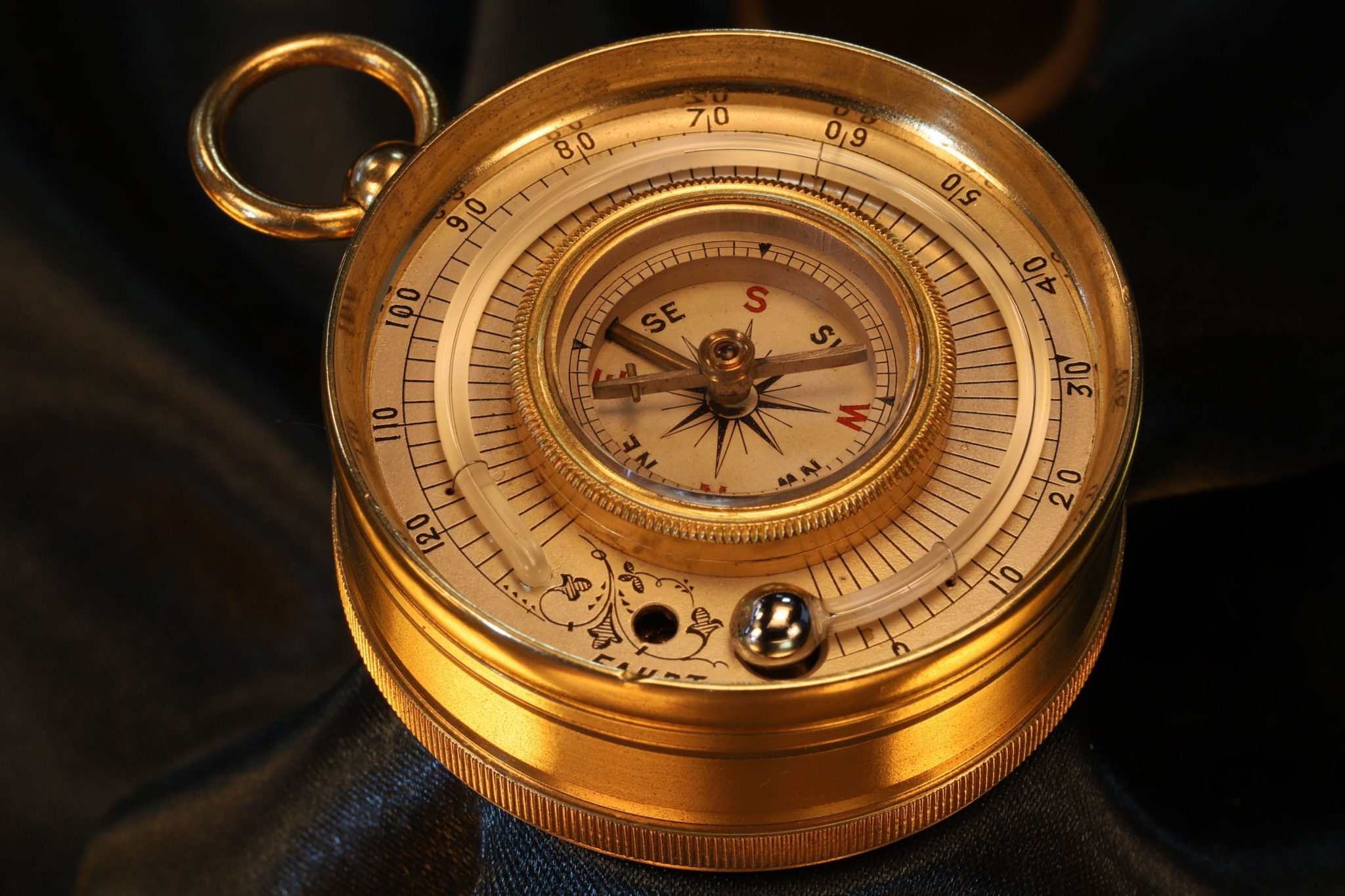 Image of Lancaster Pocket Barometer Compass Thermometer Compendium c1880