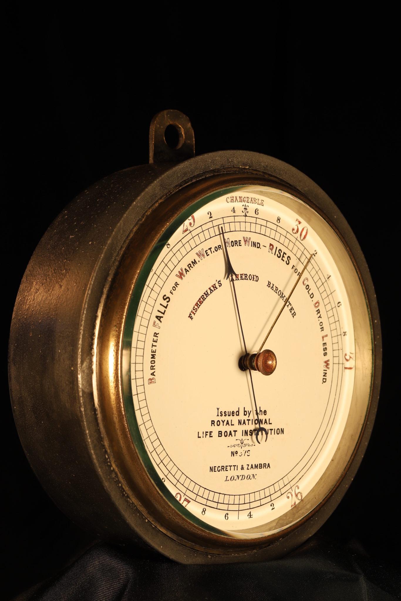 Image of Negretti & Zambra RNLI Barometer No 378 c1875