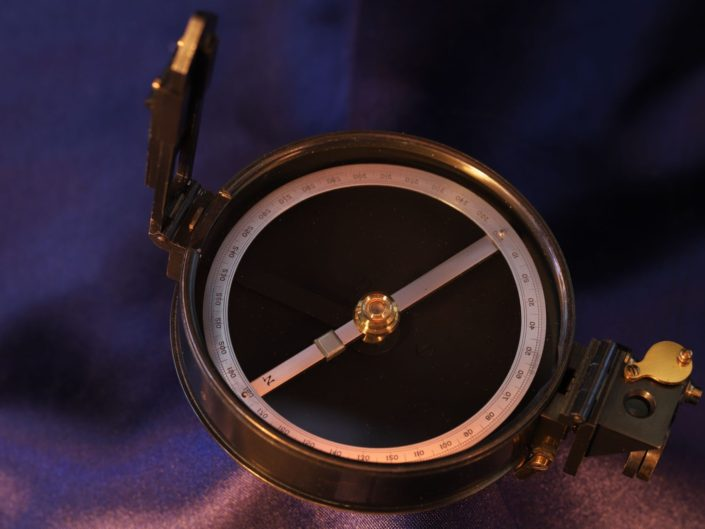 PRISMATIC SURVEYING COMPASS BY STANLEY FOR THE GEOLOGICAL SURVEY c1920
