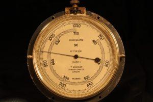 Image of Wheeler Submarine Compartment Pressure Gauge No 7343 c1941