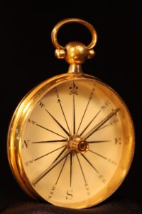 Image of Early Victorian Gilt Compass c1840
