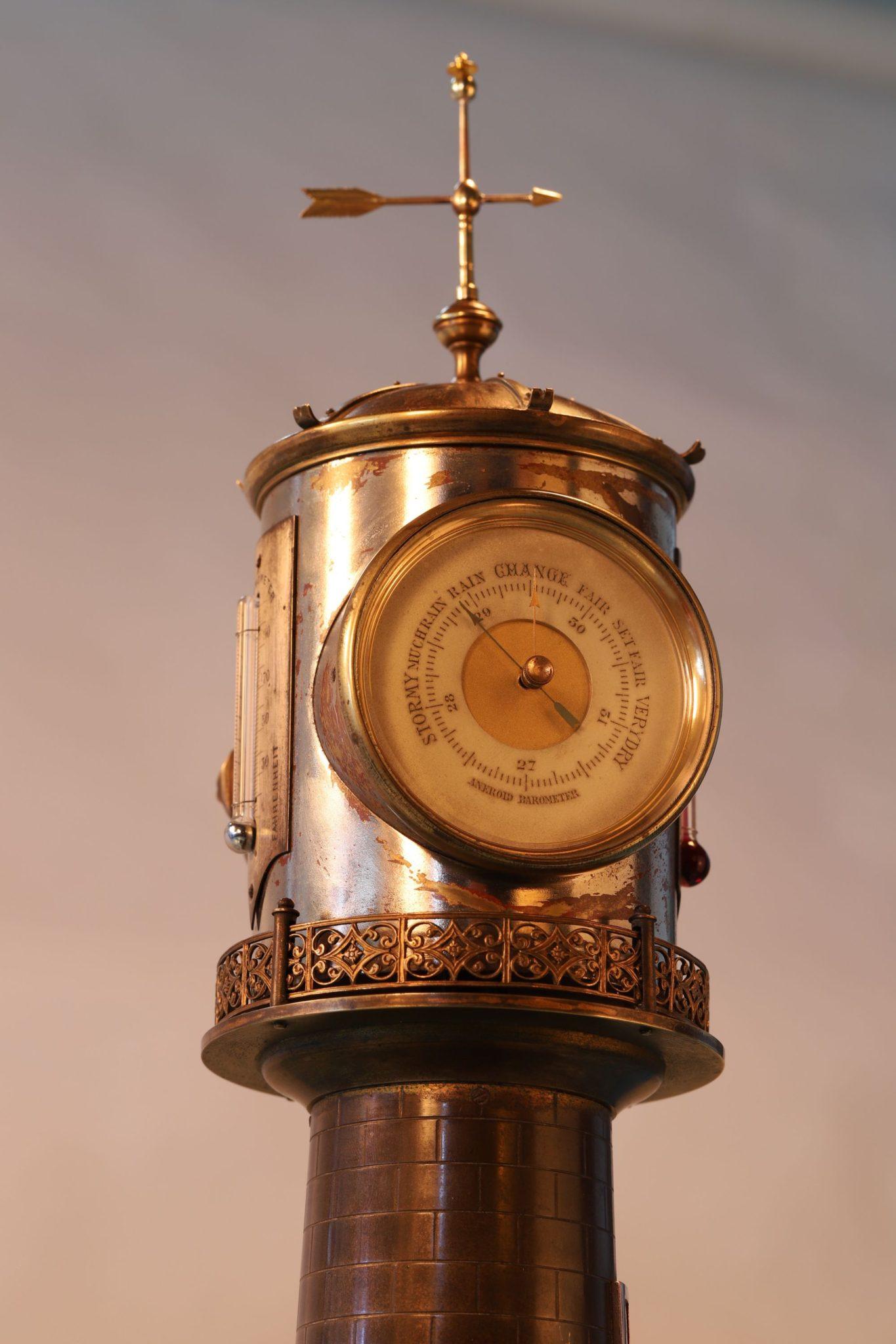 Image of Guilmet Industrial Series Lighthouse Clock Barometer c1880