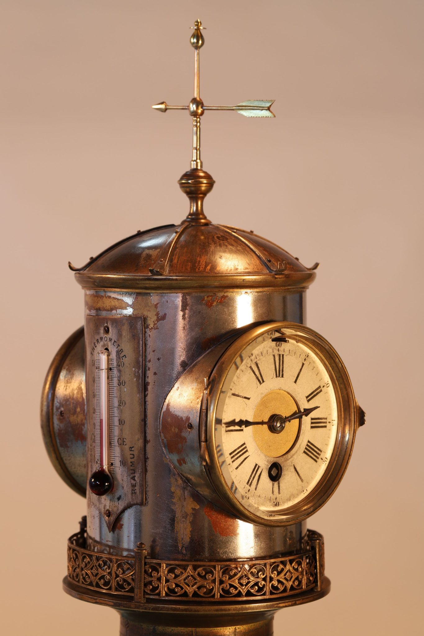 Image of Guilmet Industrial Series Lighthouse Clock Barometer c1880