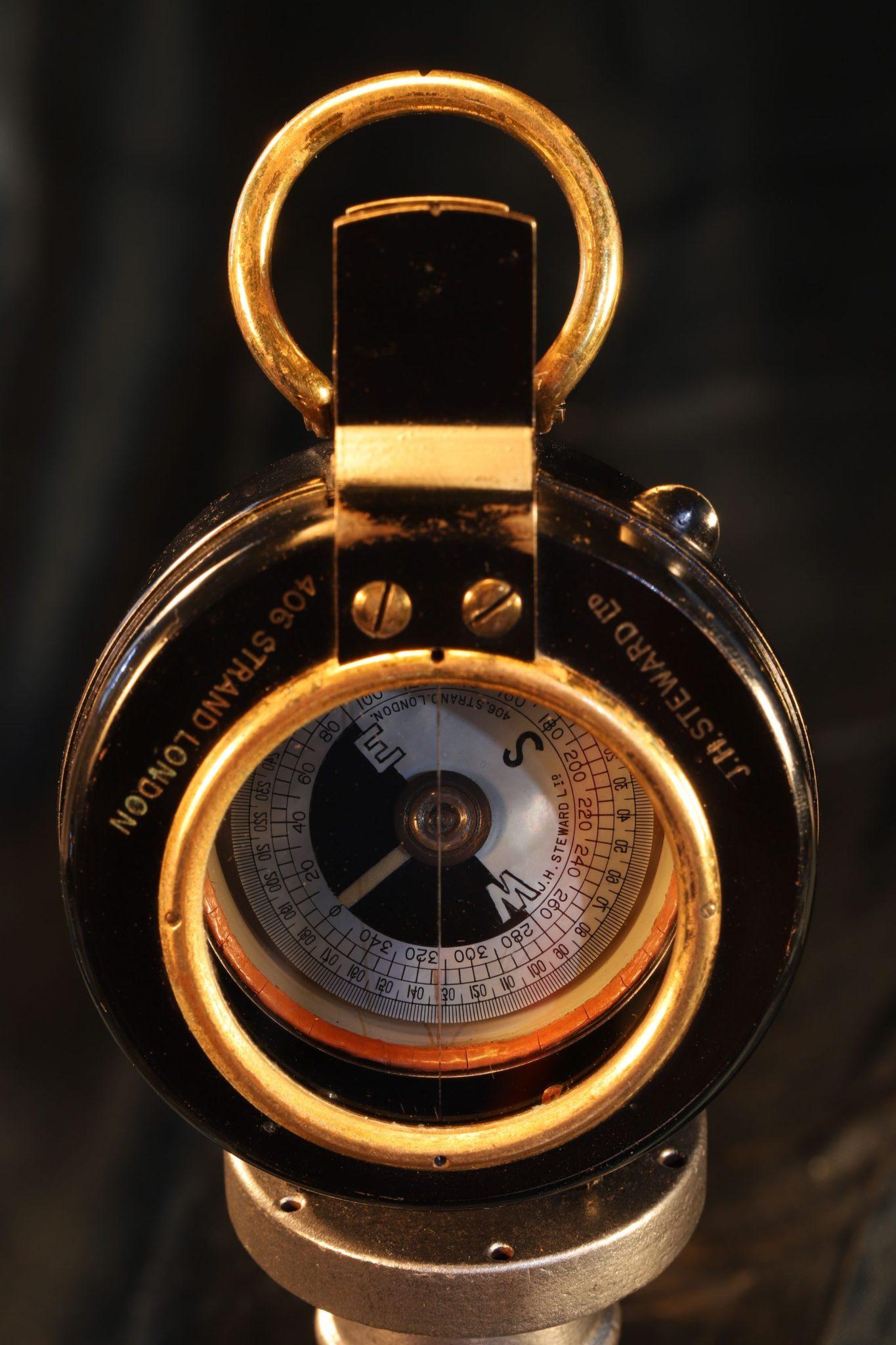 Image of Steward Liquid Prismatic Compass c1916
